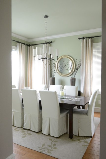 Contemporary Dining Room by Lilli Design