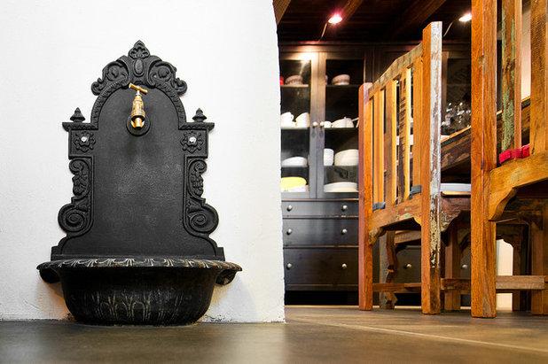 Eclectic Dining Room by Dalius & Greta Design