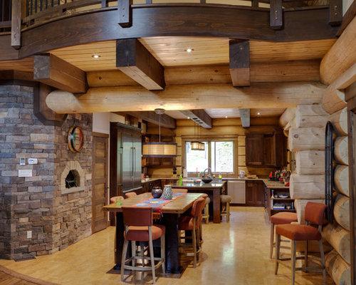 Sala Da Pranzo Rustica : Sala da pranzo in montagna con pavimento in sughero foto idee
