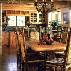 Rustic Dining Room by Maraya Interior Design