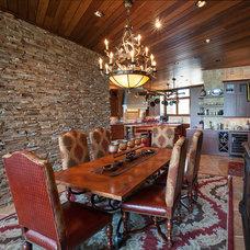 Mediterranean Dining Room by Terry M. Elston, Builder