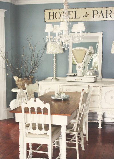 Shabby-chic Style Dining Room by Kasey Buick