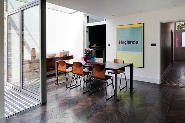 Eclectic Dining Room by Brian O'Tuama Architects