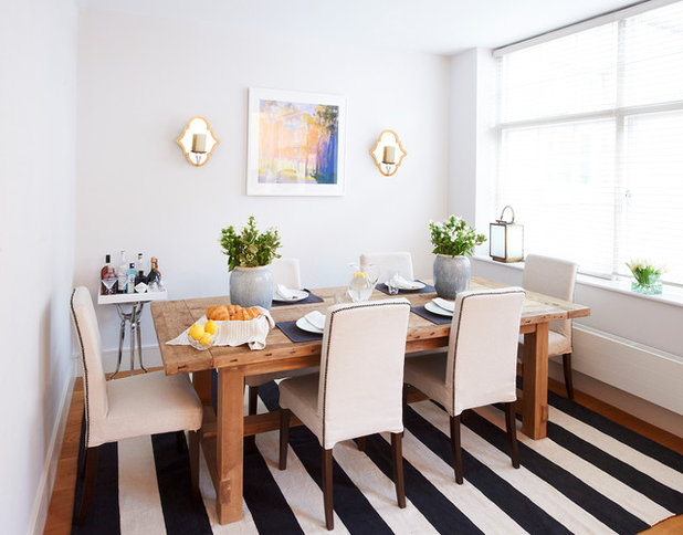 Transitional Dining Room by Sasha Meredith Designs
