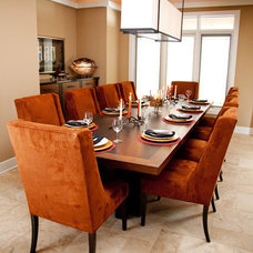 Contemporary Dining Room by Michelle's Interiors