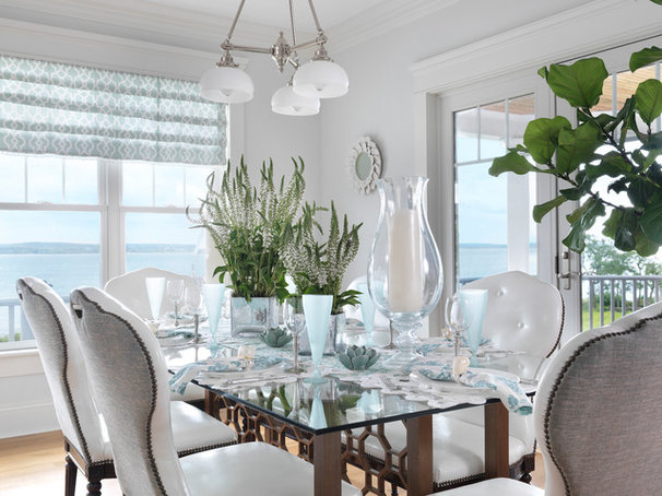 Beach Style Dining Room by Digs Design Company