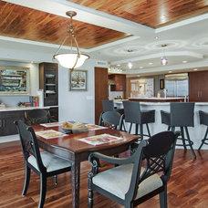 Transitional Dining Room by Ninzan Studio, LLC