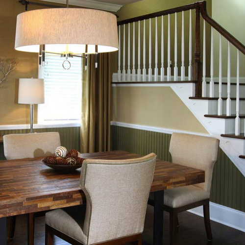 two tone paint dining room design ideas, remodels & photos