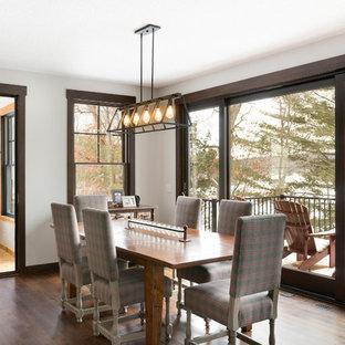 Peachy 75 Beautiful Rustic Dining Room Pictures Ideas Houzz Interior Design Ideas Lukepblogthenellocom