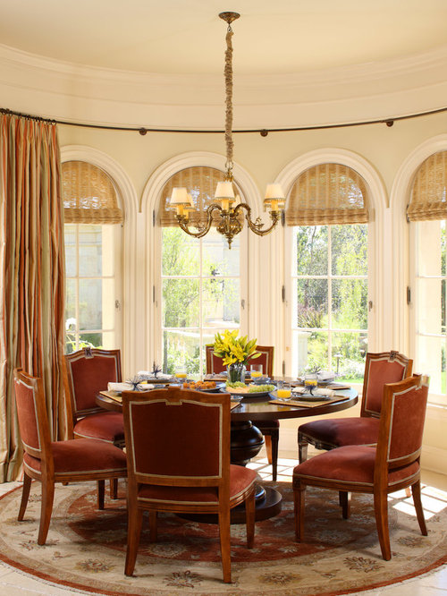 Genial Inspiration For A Timeless Dining Room Remodel In Los Angeles With Beige  Walls