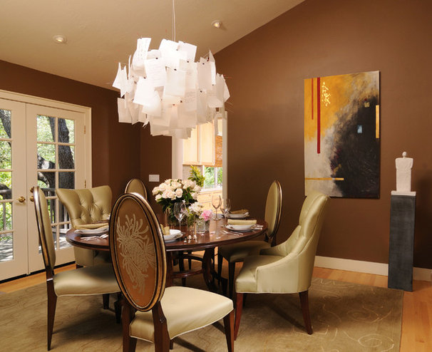 Eclectic Dining Room by Carey & Co