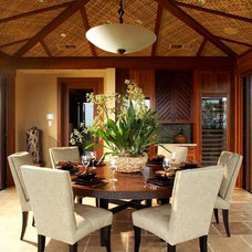 Tropical Dining Room by GM Construction, Inc.