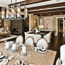 rustic dining room by Marcson Homes Ltd.
