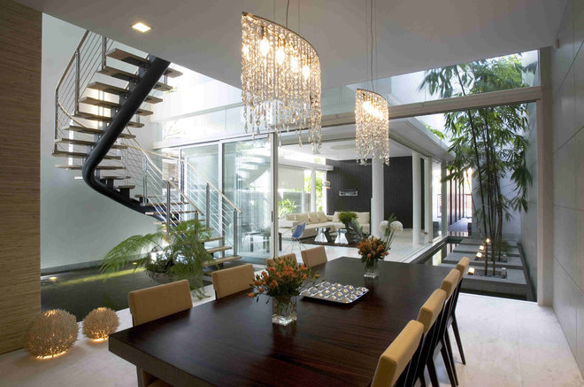 Contemporary Dining Room by HSI ARCH