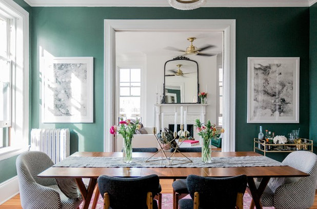 Eclectic Dining Room by Residents Understood