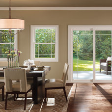 Contemporary Dining Room by Window Nation