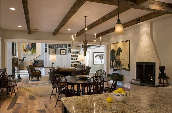 Rustic Kitchen by Wayne Windham Architect, P.A.