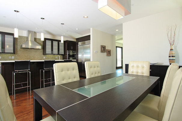 Contemporary Dining Room by LuAnn Development, Inc.