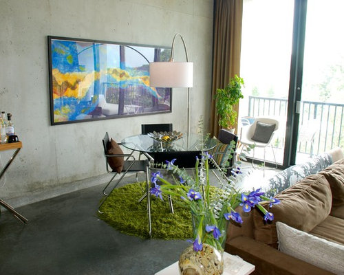 Example Of An Eclectic Dining Room Design In Atlanta With Concrete Floors Part 69