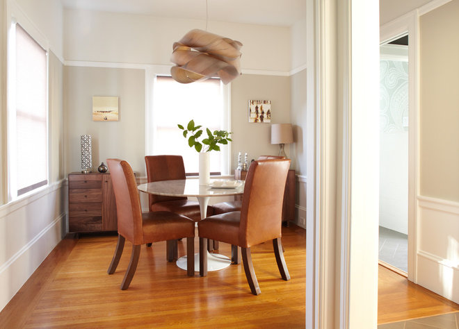 Transitional Dining Room by Lucy McLintic