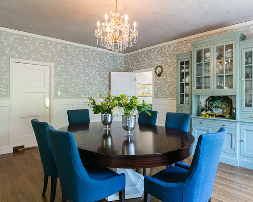 Inspiration For A Timeless Dark Wood Floor Enclosed Dining Room Remodel In San Francisco