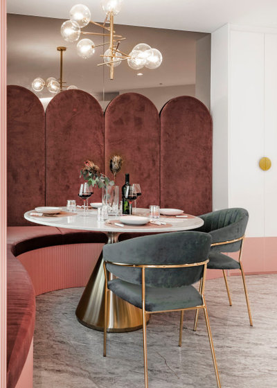 Contemporary Dining Room by Mr Shopper Studio