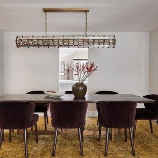 Dining Room   Contemporary Dark Wood Floor And Brown Floor Dining Room Idea  In Los Angeles