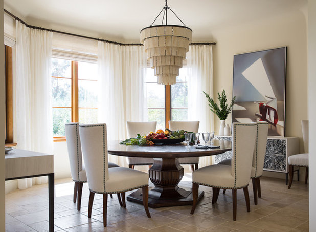 Mediterranean Dining Room by Studio Munroe