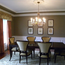 Contemporary Dining Room by Mona Ives