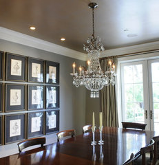traditional dining room by Allison Cosmos
