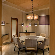 Asian Dining Room by IMI Design, LLC