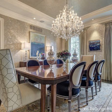 Transitional Dining Room by Maria DeGange