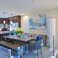 Transitional Dining Room by The Spotted Frog Designs