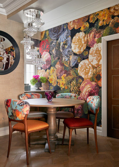 Eclectic Dining Room by Kia Designs