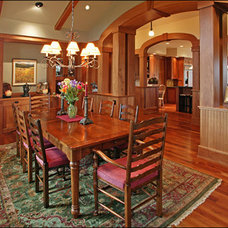 Craftsman Dining Room by Lynne Barton Bier - Home on the Range Interiors