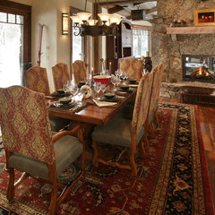 eclectic dining room by Lynne Barton Bier - Home on the Range Interiors