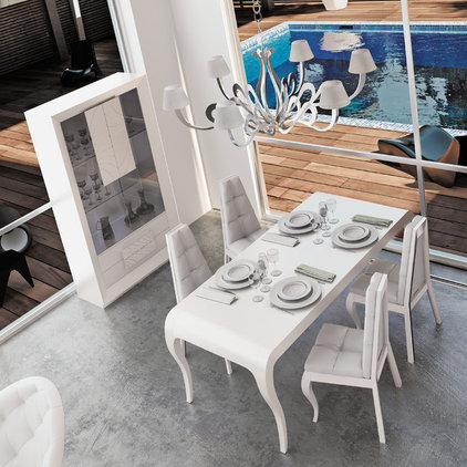 Contemporary Dining Room by Macral Design Corp
