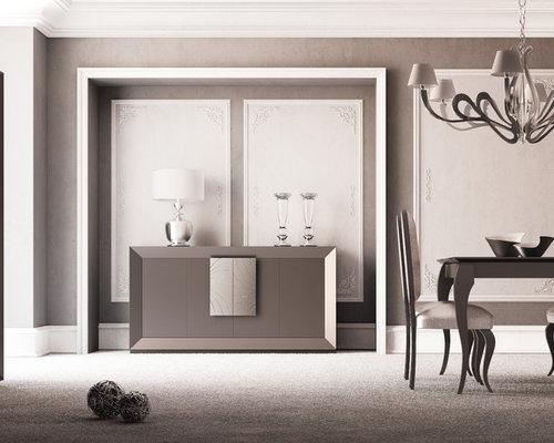 Example of a minimalist dining room design in Miami. Spanish Design Furniture   Houzz