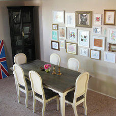 Eclectic Dining Room madebygirl- dining table