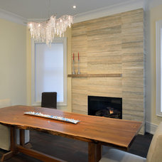 Contemporary Dining Room by Sisters in Sync Design
