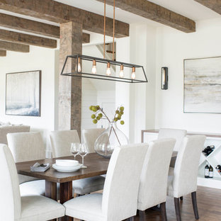 Dining room - farmhouse dining room idea in Raleigh