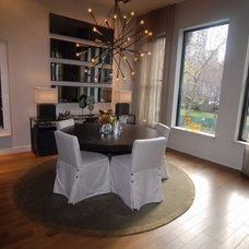 Eclectic Dining Room by Holzman Interiors, Inc.