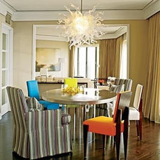 Contemporary Dining Room by Michael Richman
