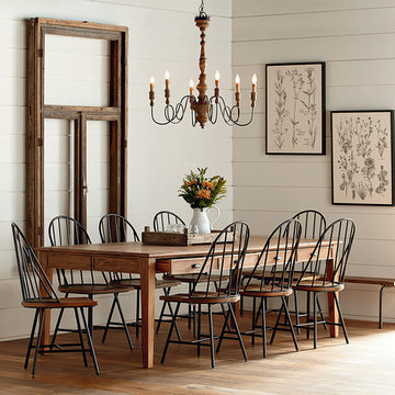 MAGNOLIA HOME - KEEPING DINING TABLE - 96 INCHES - BENCH FINISH
