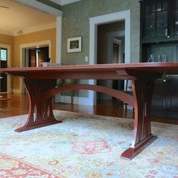 Mahogany Trestle Table -