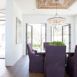 This is an example of a country dining room in Los Angeles.