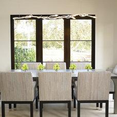 Mediterranean Dining Room by Amy Noel Design