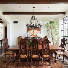 Mediterranean Dining Room by Armfield Design & Construction