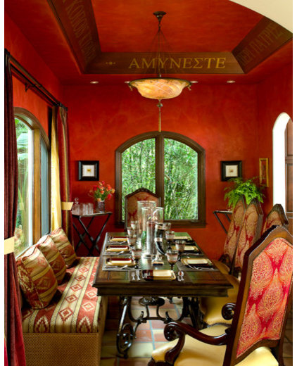 mediterranean dining room by Tracy Murdock Allied ASID