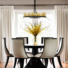 Transitional Dining Room by Alexander Pollock Interiors